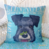 Schnauzer pillow covers - Dog pillows - gift for him - gift for her - dog lovers gift - Julie Butler Creations