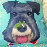 Schnauzer pillow covers - Dog pillows - gift for him - gift for her - dog lovers gift
