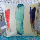 pillow covers - pillow covers with Feathers - 18x18 pillow covers - Feather pillow covers - Julie Butler Creations