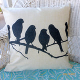 Bird pillow covers - pillow covers - French Country Decor - pillow covers - Julie Butler Creations