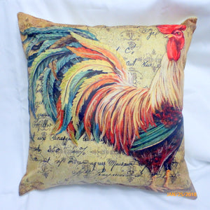 Rooster pillow covers - pillow covers - French Country Decor - French Rooster pillows - Julie Butler Creations