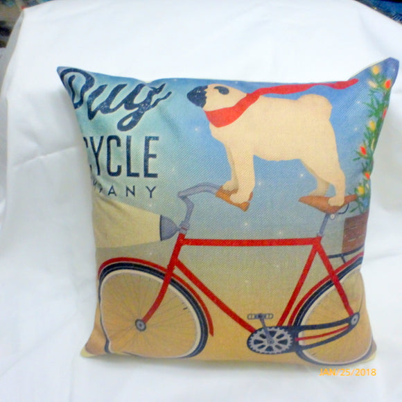 Christmas Dog Pillow covers -dog pillow covers - Family room pillow covers - boys room decor