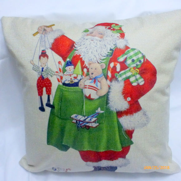 Christmas Pillow covers - Santa pillow cover - Christmas decorations - Julie Butler Creations