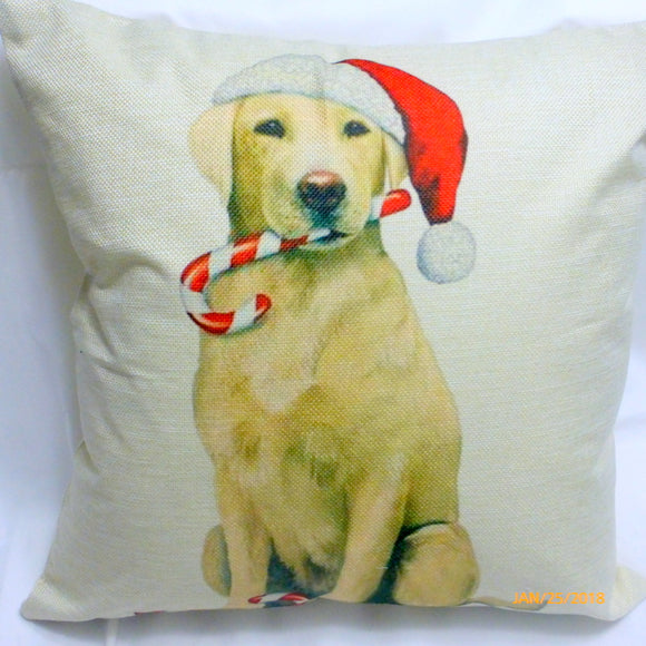 Yellow Lab Christmas Pillow covers - Dog Breed cover - Christmas decorations - dog pillow covers - Julie Butler Creations