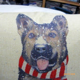German Sheppard Christmas Pillow cover Family room pillow covers - boys room decor - Julie Butler Creations