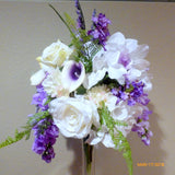 Tall Wedding centerpiece - floral arrangement -Cascading Centerpiece - wedding flowers - Julie Butler Creations