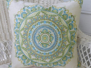 Linen Pillow Cover - Richloom Designer Fabric pillows - Accent Pillow Covers - Julie Butler Creations
