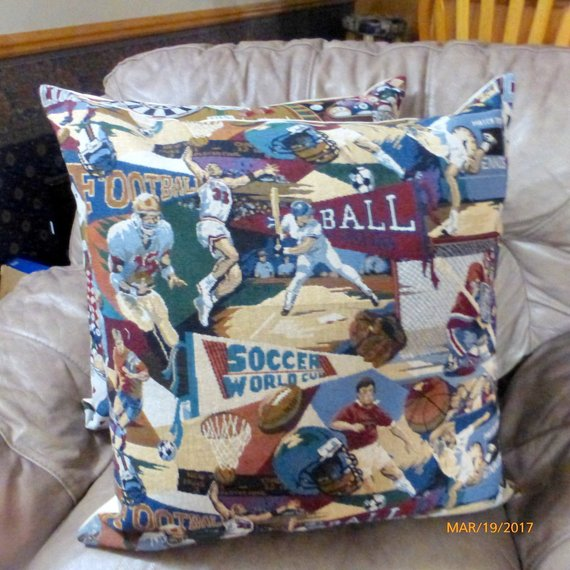 All Sports Pillow cover - Extra Large floor pillows - Tapestry pillow covers - pillow covers - Julie Butler Creations
