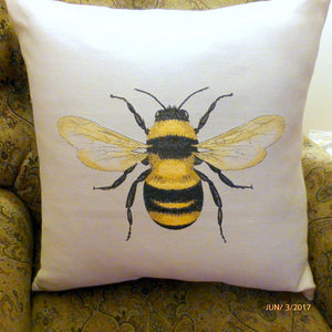 Bee Pillow cover - Extra Large floor pillows - Accent pillow covers - Queen Bee Pillows - Julie Butler Creations