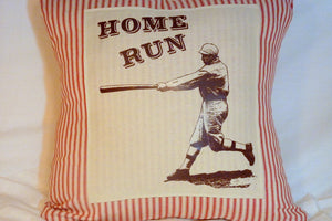 Vintage Baseball pillow cover - Pillow Cover - Vintage Baseball player - sports pillow - Julie Butler Creations