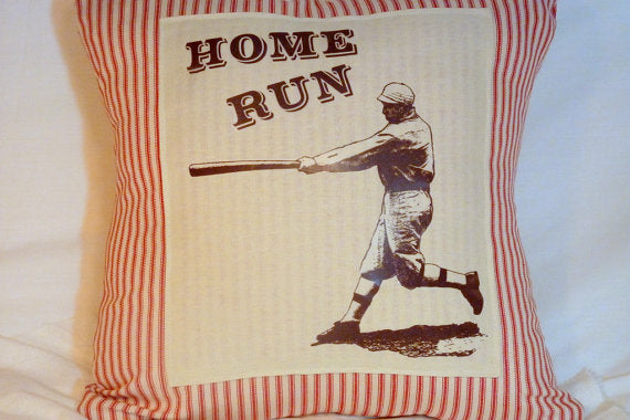 Vintage Baseball pillow cover - Pillow Cover - Vintage Baseball player - sports pillow