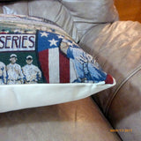 Baseball pillow cover - Vintage baseball tapestry pillow -Boys room decor - Julie Butler Creations