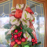 Berry Door Swag - Christmas Wreaths - Christmas Door Swag - Wreaths - Holiday decorations - Julie Butler Creations
