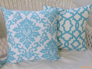 Premier Prints Pillow Cover - Pillow Cover - Coastal Blue and white - accent pillow cover - Julie Butler Creations