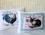 Bunny pillow - Accent pillow - French Themed pillows - Easter pillow - French country decor - Julie Butler Creations