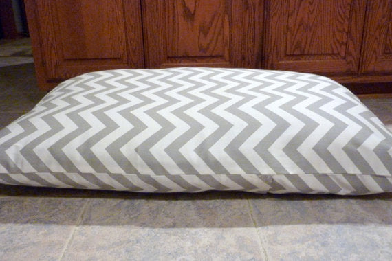 Dog Bed Cover - Personalized Pet Bed Cover - Chevron Dog Bed - large dog bed - Julie Butler Creations