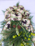 Pine Door Swag - Christmas Wreaths - Christmas door swags - Wreaths - Julie Butler Creations