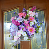 Easter Floral Arrangement - Spring Easter wall pockets - Birch Bark Basket - wall pockets - Julie Butler Creations