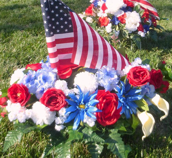 Memorial Day flowers - memorial flowers - Cemetery flowers -Military memorial flower