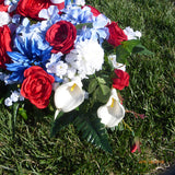 Memorial Day flowers - memorial flowers - Cemetery flowers -Military memorial flower - Julie Butler Creations