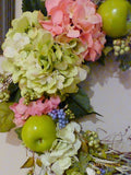 Decorative Hydrangea Wreaths - door wreaths - Summer Wreaths - Front door decor - Julie Butler Creations