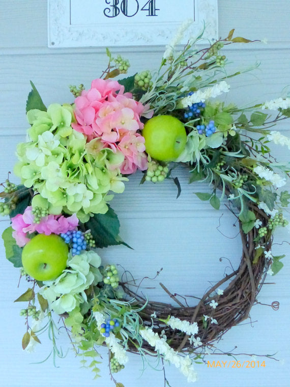 Decorative Hydrangea Wreaths Door Wreaths Summer Wreaths Front