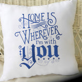 Couples pillow - wedding pillow - Romantic bed pillow - Embroidered Pillow - Wedding gift - Julie Butler Creations