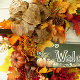 Wreaths for Fall - Fall Decor - Welcome wreath - Holiday decor - Thanksgiving Wreath - Autumn Wreath - Julie Butler Creations