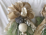 Christmas Swags for double doors - Christmas Wreath - set of 2 swags - Holiday Door Decorations - Julie Butler Creations