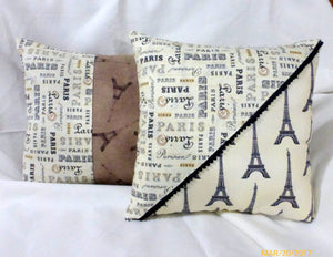 Paris Pillows - Eiffel tower pillow - French themed Pillows - accent pillows - French country decor - Julie Butler Creations