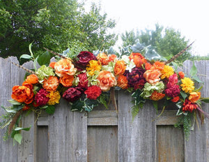 Fall Wedding Arbor - Wedding Arch Decorations - Autumn Wedding Arch - Julie Butler Creations