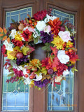 Fall Floral Wreaths -Thanksgiving Wreaths -Fall Wedding wreath - Autumn wreaths - Julie Butler Creations