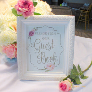 Guest Book Sign - Wedding sign - Guest Book picture - Wedding decorations - Julie Butler Creations