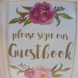Wedding Guest Book Sign - Wedding sign - Guest Book picture - Wedding decorations