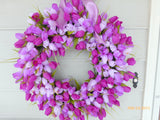 Spring Tulip Wreath - Wreaths - Easter wreath - Wedding Wreath - Easter decorations