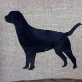 Burlap Lab Pillow Cover - Dog Pillow cover - animal pillows - Burlap accent pillow cover - Julie Butler Creations