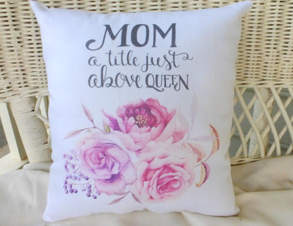 Mothers Day Pillow - Gift for mom - accent pillows - bed pillows - Mothers Day gift - Julie Butler Creations