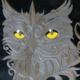 Embroidered Owl Pillow cover - Black Suede pillow - Owl Pillow Cover - owl pillows - gift for him - Julie Butler Creations