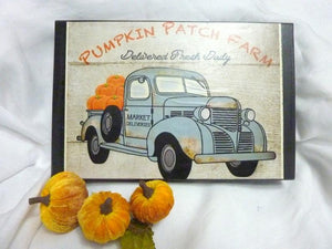 Pumpkin Patch shelf sitter - wood plaques for Fall - Thanksgiving decorations - Farmhouse decor - Julie Butler Creations