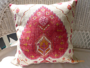 Pillow Cover - Ikat Fabric - throw pillow - Richloom linen blend - Ikat pillow covers - Julie Butler Creations