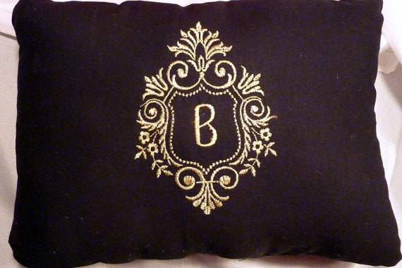Monogrammed Pillow - Personalized pillow - Wedding Gift - personalized wedding gift - Julie Butler Creations