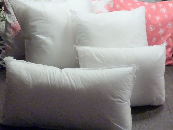 Pillow Inserts - Pillow forms - 100% Polyester Fiber fill - 6 sizes from 12x16 - 20x20 - Julie Butler Creations