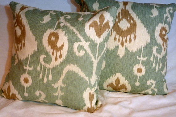 Ikat Pillow Covers - Magnolia Home Java - Patio pillow covers - Pillow covers - Ikat pillows - Julie Butler Creations