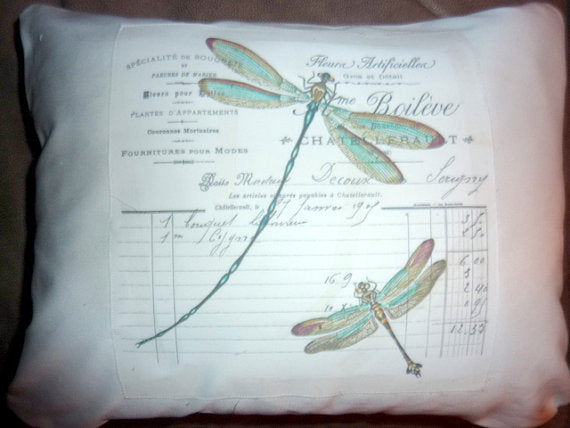 Decorative Pillow Cover - Paris Pillow Cover - fireflies - French Country Decor- Pillows - Julie Butler Creations