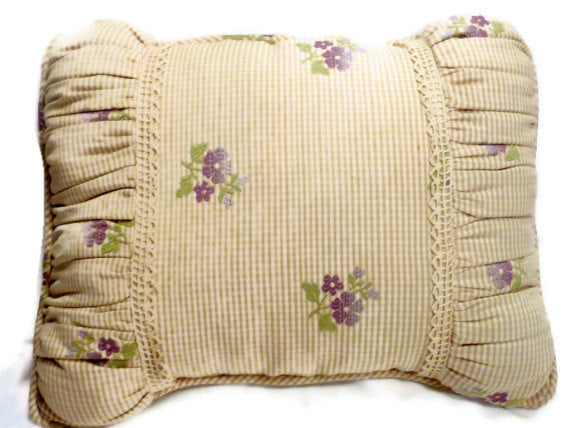 Decorative Pillow - Embroidered Pillow - Antique lace - Pillows - Accent pillows - bed pillow - Julie Butler Creations