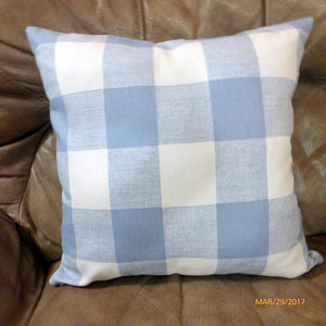 Buffalo plaid Pillow cover - Cashmere Blue Anderson Check pillow cover - Premier Prints pillow cover - Julie Butler Creations