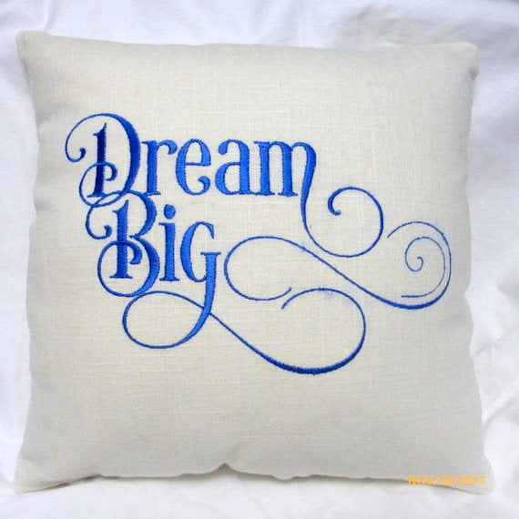 Embroidered Linen Pillow - New Baby Gift - baby shower gift - nursery decorations - Julie Butler Creations