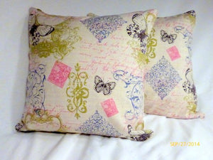 French themed Pillow Cover -French advertising printed fabric- French Country decor - Julie Butler Creations