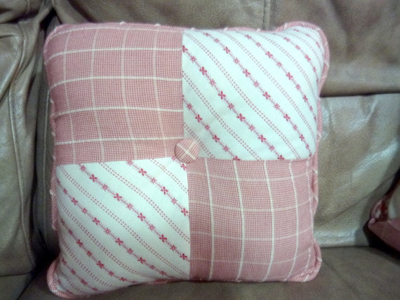 Red and White Pillows - Waverly Fabric  - pillows - throw pillows - sofa pillows - designer pillows - Julie Butler Creations