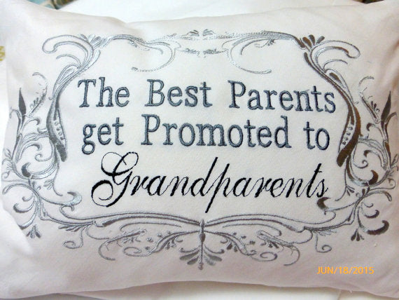 Grandparents Pillow cover - Parents pillow - Personalized gifts - Embroidered Grandparents pillow